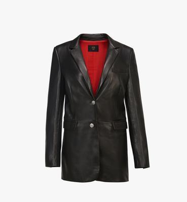 여성용 테일러드 레더 재킷