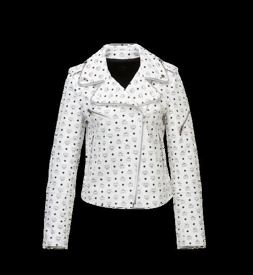 Women's Visetos Print Leather Rider Jacket