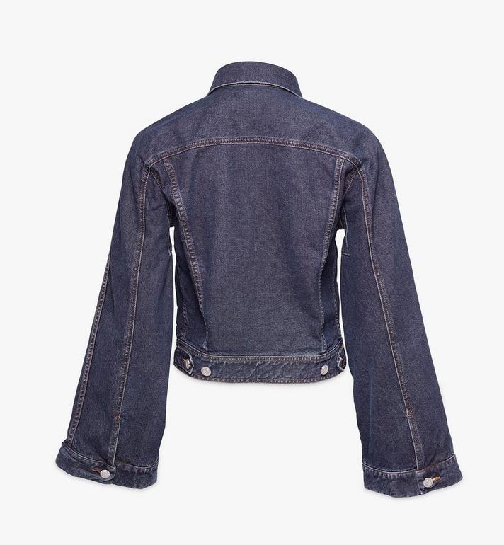MCM Women's Kimono Sleeve Denim Jacket Black MFJAADS01VW040 Alternate View 2