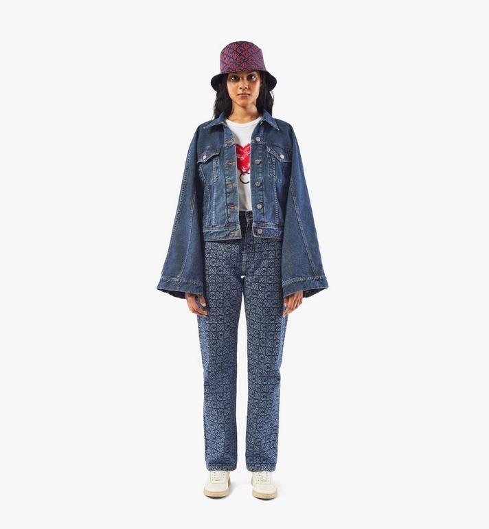 MCM Women's Kimono Sleeve Denim Jacket Black MFJAADS01VW040 Alternate View 3