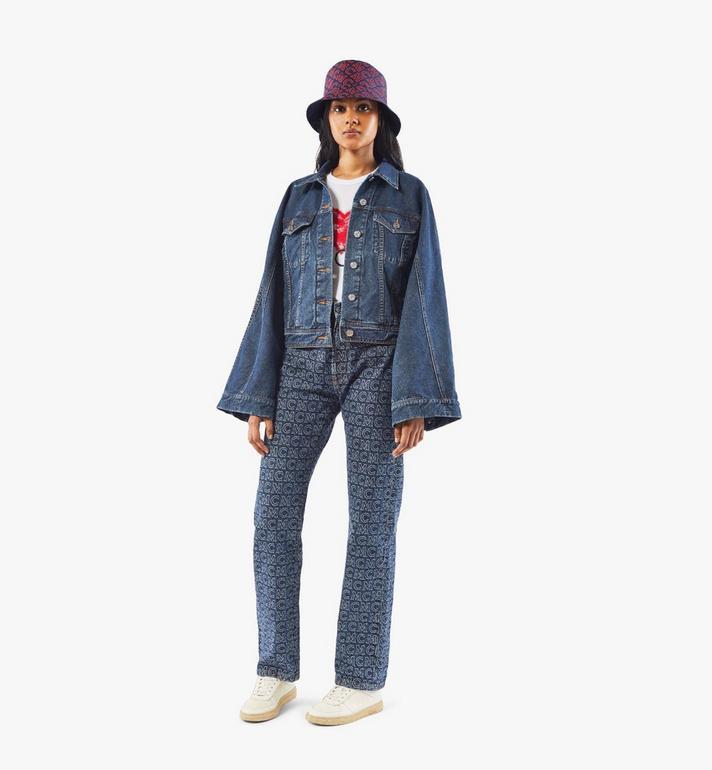MCM Women's Kimono Sleeve Denim Jacket Black MFJAADS01VW040 Alternate View 6