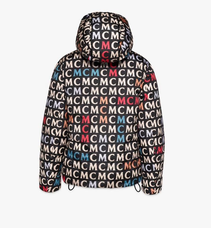 MCM Women's Quilted Jacket in Monogram Nylon Black MFJAAMF01MW042 Alternate View 2