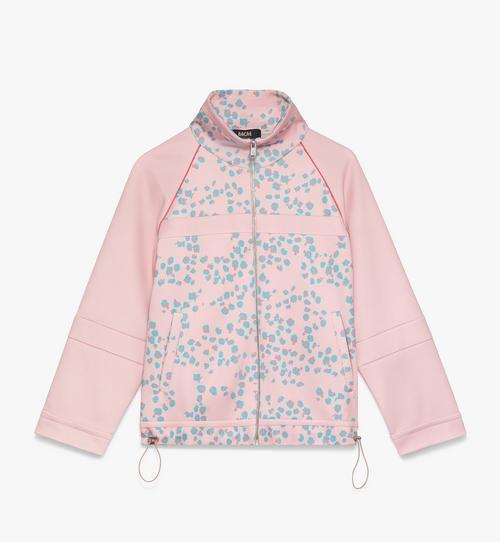 女士碎花豹紋印花運動夾克
