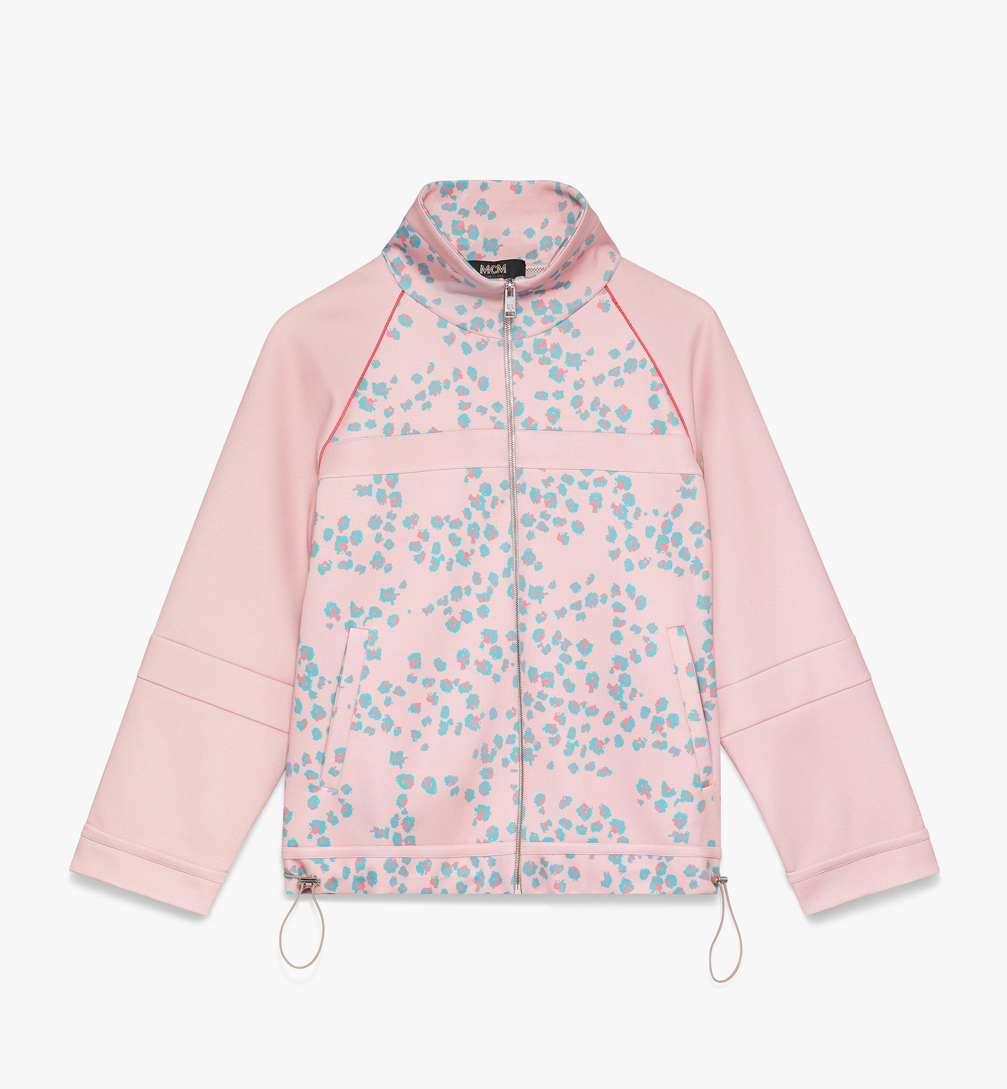 MCM Women's Floral Leopard Print Track Jacket Pink MFJASSE01QI00S Alternate View 1