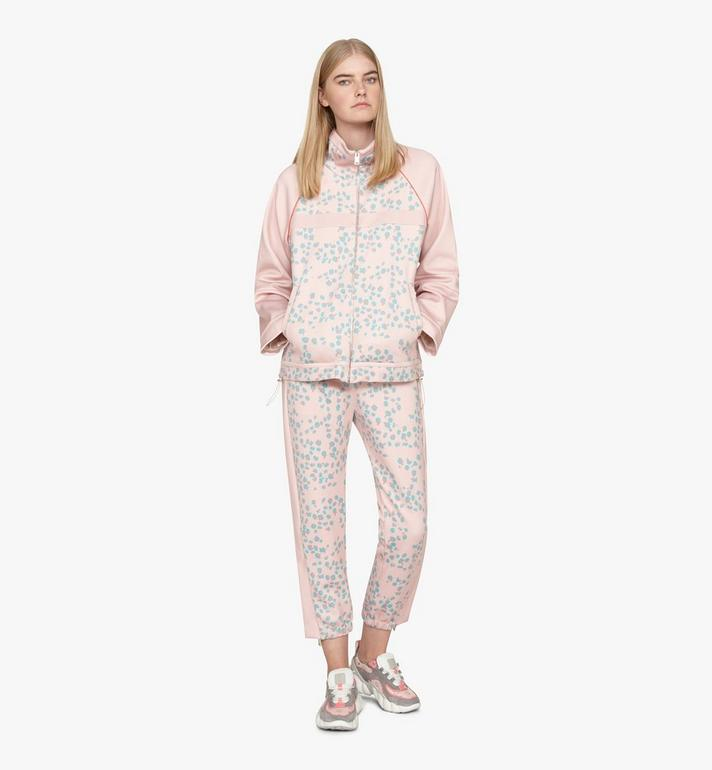 MCM Women's Floral Leopard Print Track Jacket Pink MFJASSE01QI00S Alternate View 3