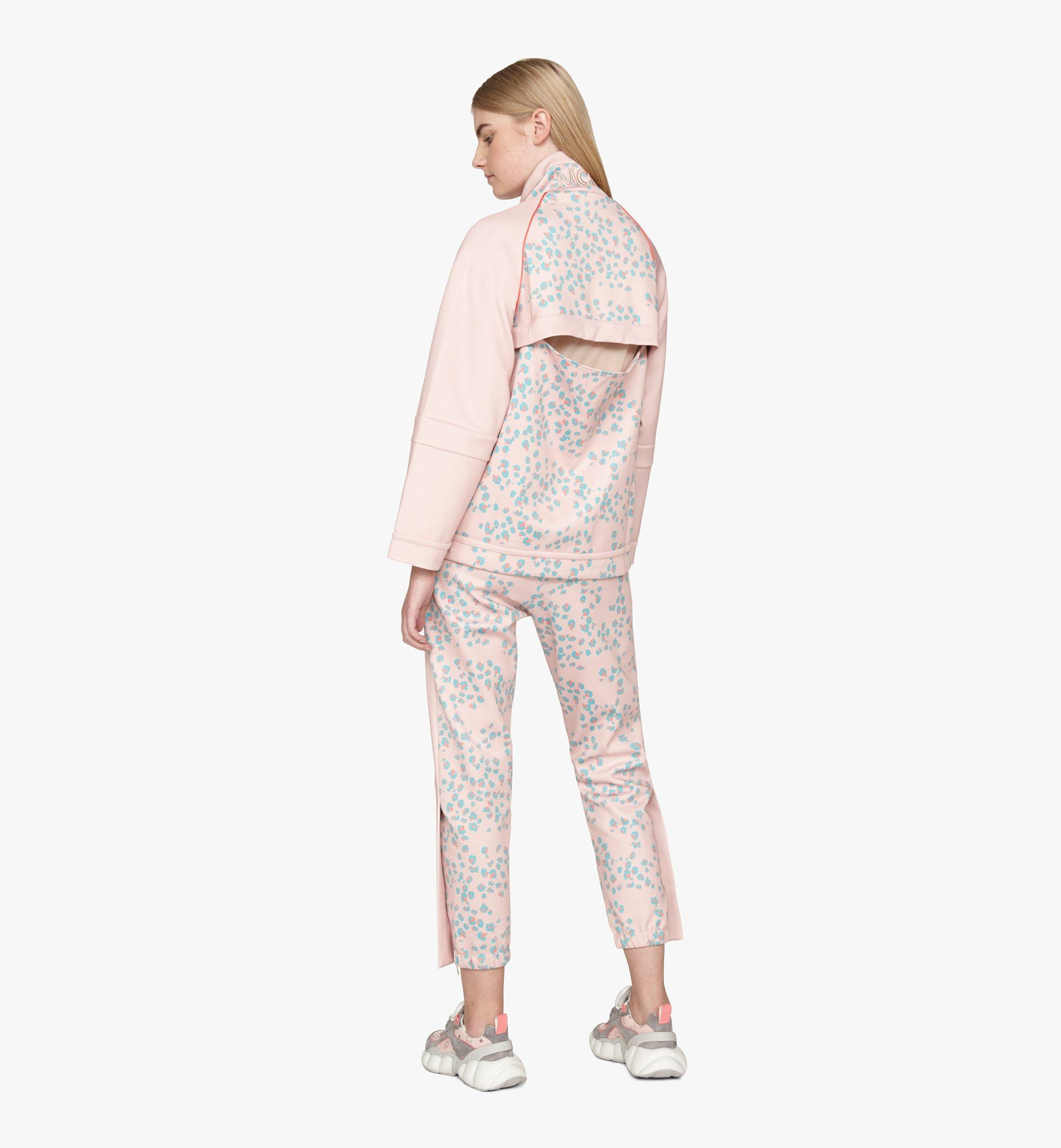 MCM Women's Floral Leopard Print Track Jacket Pink MFJASSE01QI00S Alternate View 4