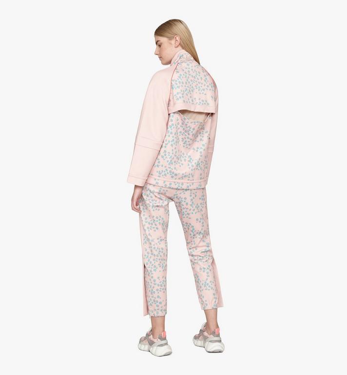 MCM Women's Floral Leopard Print Track Jacket Pink MFJASSE01QI0XS Alternate View 4