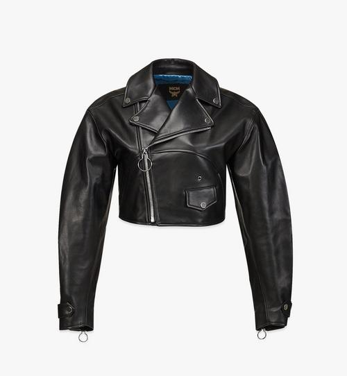 Women's Cropped Leather Jacket