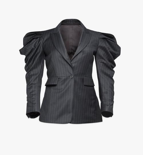 Blazer drapé en laine pour femme