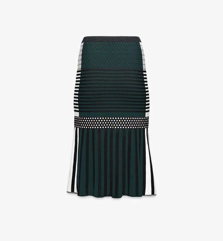 MCM Women's Jacquard Skirt Black MFKAAMM01BK00S Alternate View 2