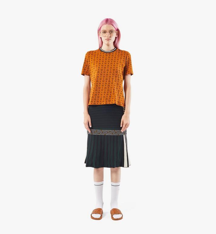 MCM Women's Jacquard Skirt Black MFKAAMM01BK00S Alternate View 3