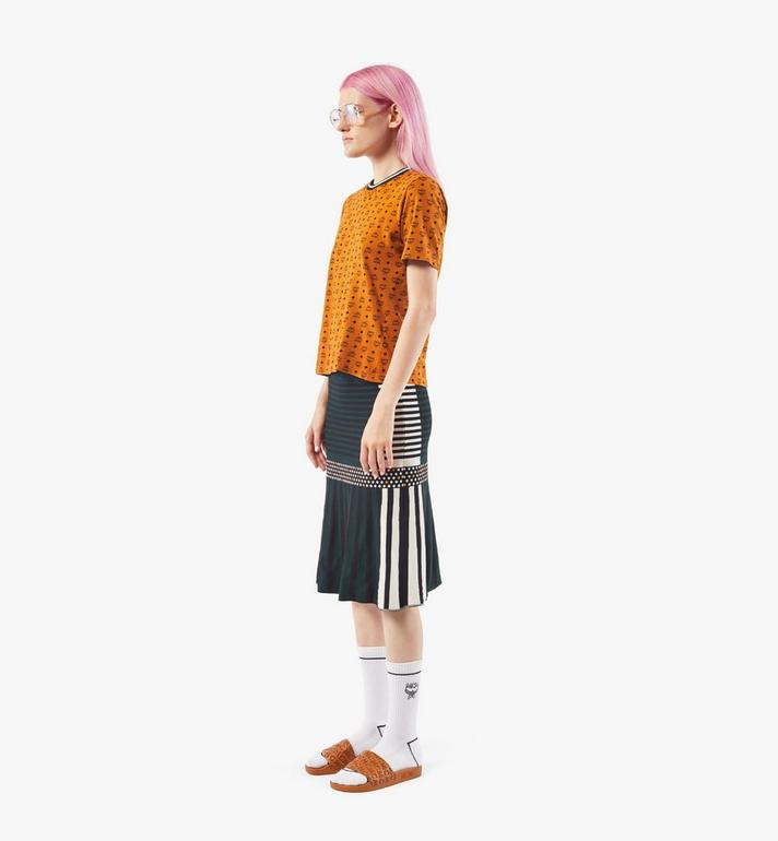 MCM Women's Jacquard Skirt Black MFKAAMM01BK00S Alternate View 4