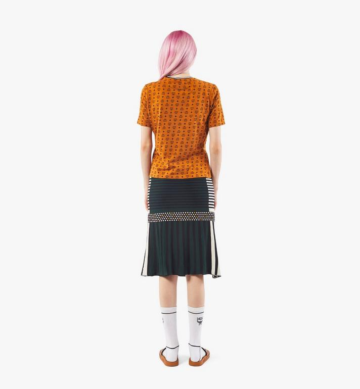MCM Women's Jacquard Skirt Black MFKAAMM01BK00S Alternate View 5
