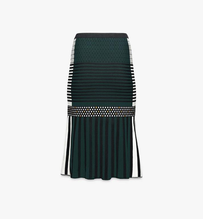 MCM Women's Jacquard Skirt Black MFKAAMM01BK0XS Alternate View 2