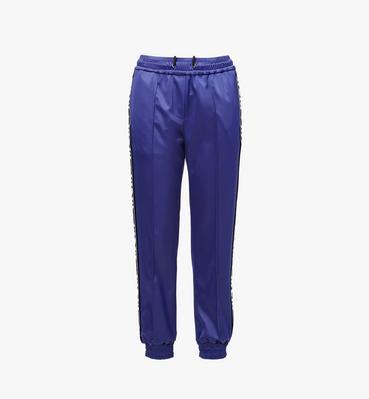 กางเกงจอกเกอร์สำหรับผู้หญิงทำจากผ้าซาตินลายโลโก้