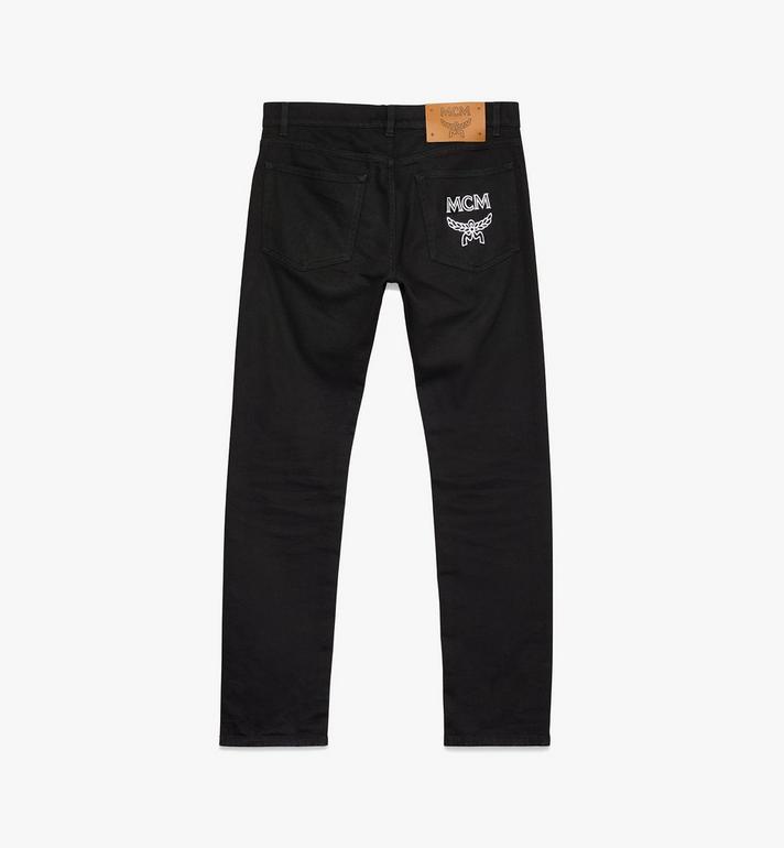MCM Women's Resnick Standard Fit Jeans Black MFP9ARA44BK028 Alternate View 2
