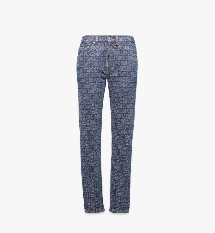 MCM Women's Monogram Straight Leg Jeans Alternate View