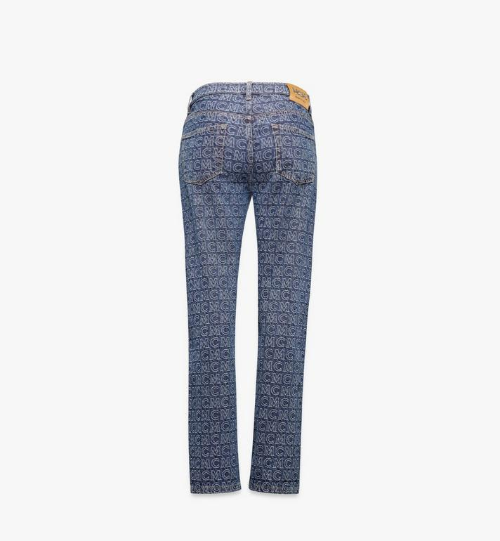 MCM Women's Monogram Straight Leg Jeans Black MFPAADS01VW040 Alternate View 2