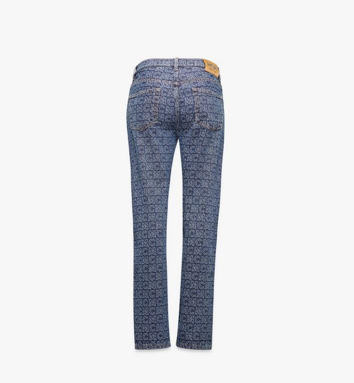 MCM Women's Monogram Straight Leg Jeans Black MFPAADS01VW042 Alternate View 2
