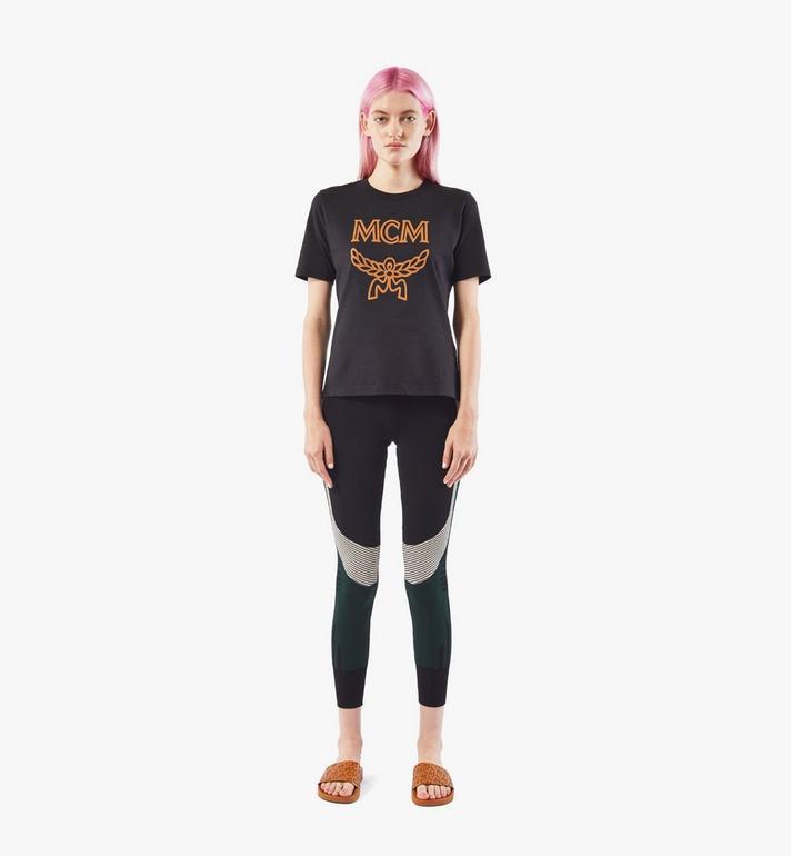 MCM Women's Jacquard Leggings Black MFPAAMM04JJ00S Alternate View 3