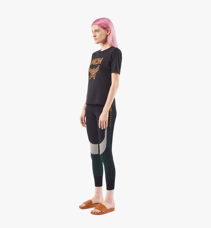 MCM Women's Jacquard Leggings Black MFPAAMM04JJ00S Alternate View 4