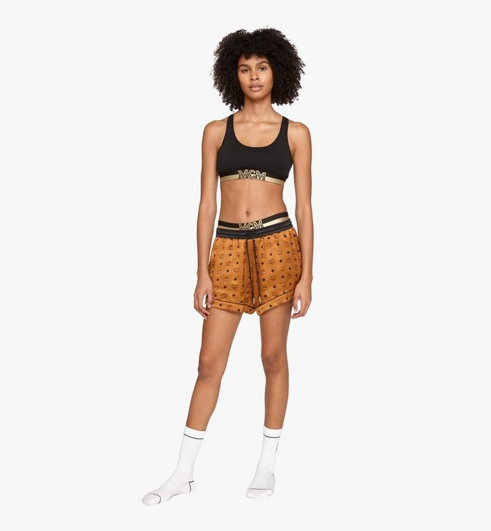 MCM Women's Silk Sleep Shorts Cognac MFPASBM03CO00M Alternate View 3