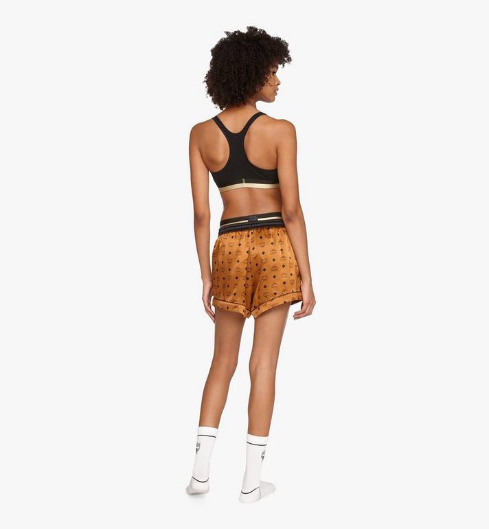 MCM Women's Silk Sleep Shorts Cognac MFPASBM03CO00M Alternate View 4