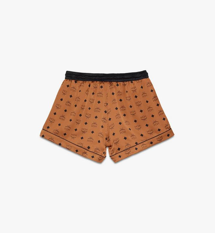 MCM Women's Silk Sleep Shorts Cognac MFPASBM03CO00S Alternate View 2