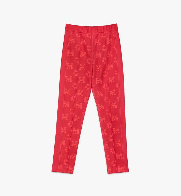 MCM Women's Monogram Track Pants Red MFPASMM01R400M Alternate View 1
