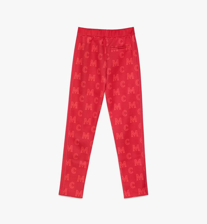 MCM Women's Monogram Track Pants Red MFPASMM01R400S Alternate View 2