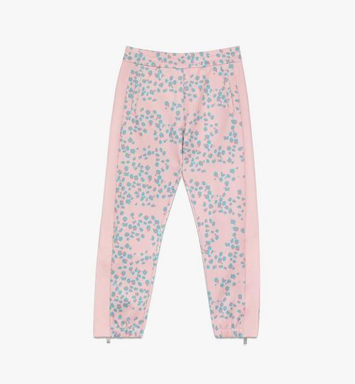 กางเกงกีฬาพิมพ์ลายเสือดาวและดอกไม้สำหรับผู้หญิง