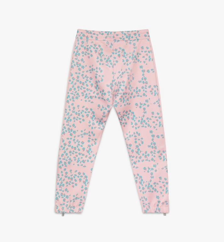 MCM Women's Floral Leopard Print Track Pants Pink MFPASSE01QI00M Alternate View 2