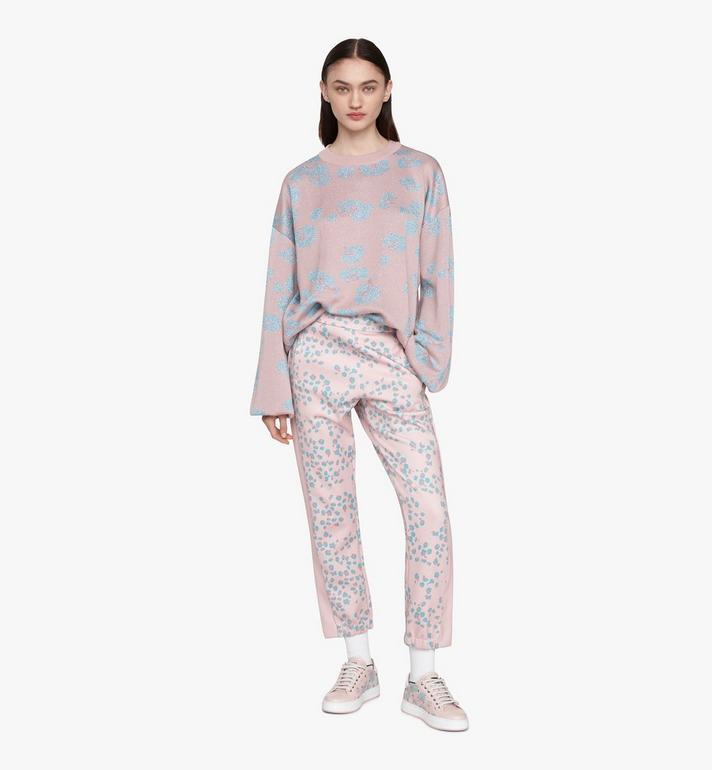 MCM Women's Floral Leopard Print Track Pants Pink MFPASSE01QI00M Alternate View 3