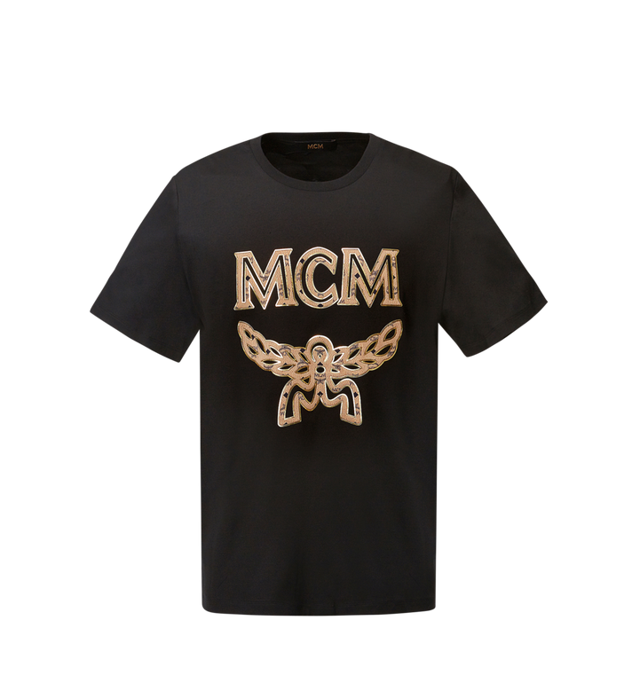 MCM Women's Logo T-Shirt Black MFT8SMM11BK00M Alternate View 1