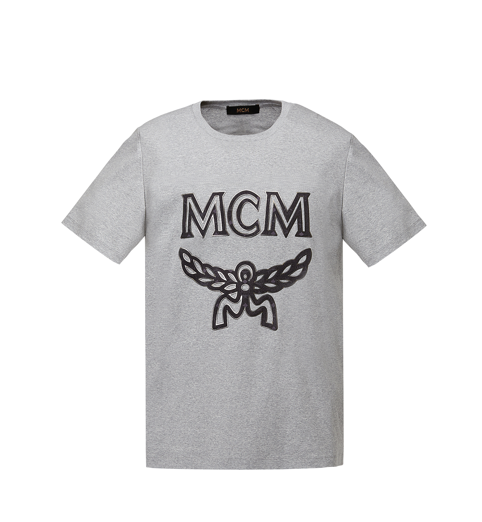 MCM Women's Logo T-Shirt Grey MFT8SMM11EG00M Alternate View 1