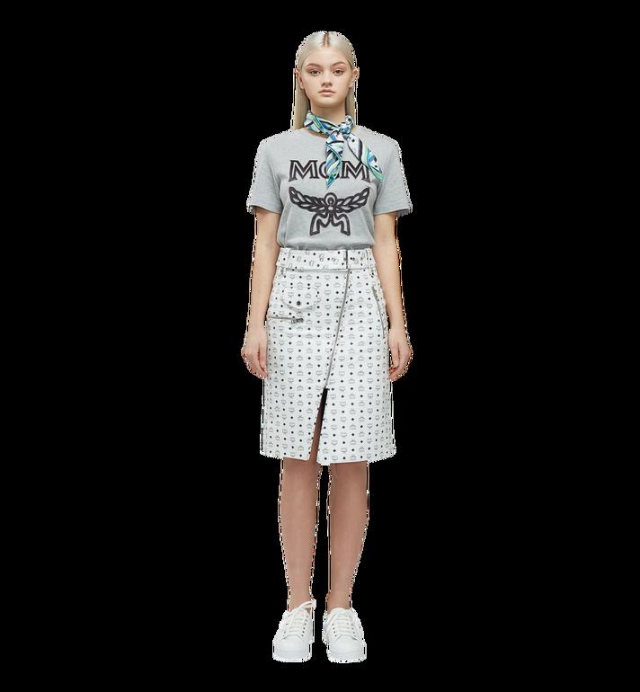 MCM T-shirt à logo pour femme Grey MFT8SMM11EG00M Alternate View 4