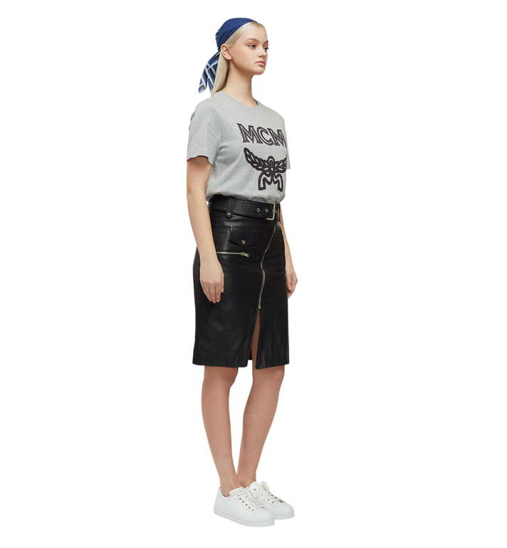 MCM T-shirt à logo pour femme Grey MFT8SMM11EG00M Alternate View 6