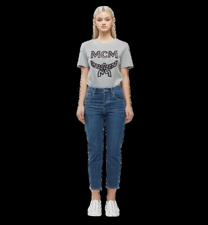MCM Damen Logo T-Shirt Grey MFT8SMM11EG00S Alternate View 5