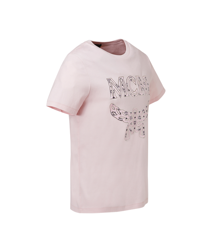 MCM 女士经典徽标 T 恤 Pink MFT8SMM11PV00M Alternate View 2