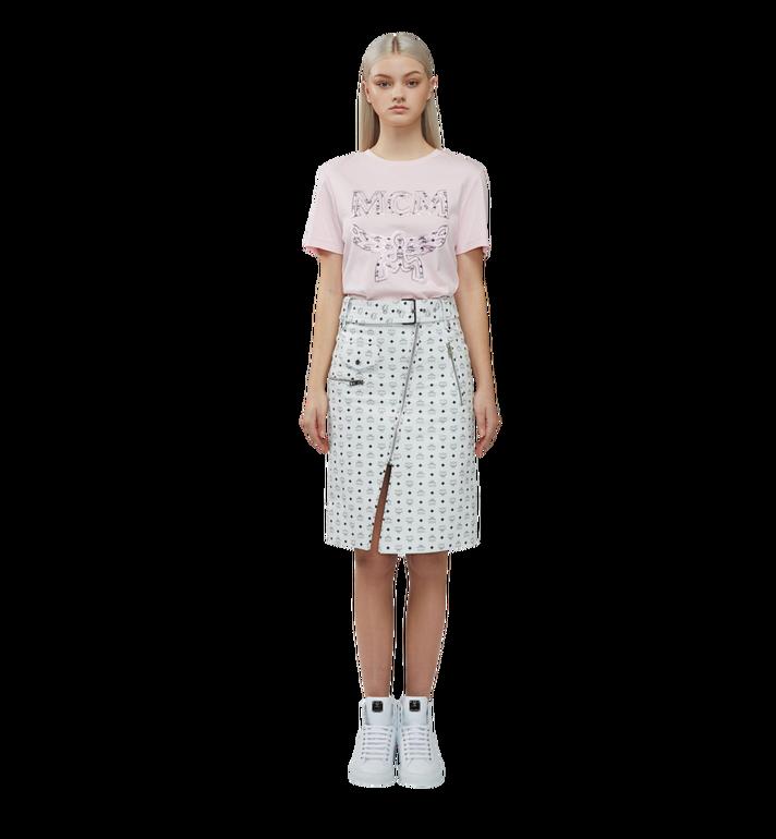 MCM 女士经典徽标 T 恤 Pink MFT8SMM11PV00S Alternate View 4