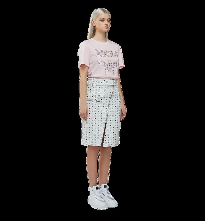 MCM 女士经典徽标 T 恤 Pink MFT8SMM11PV00S Alternate View 5