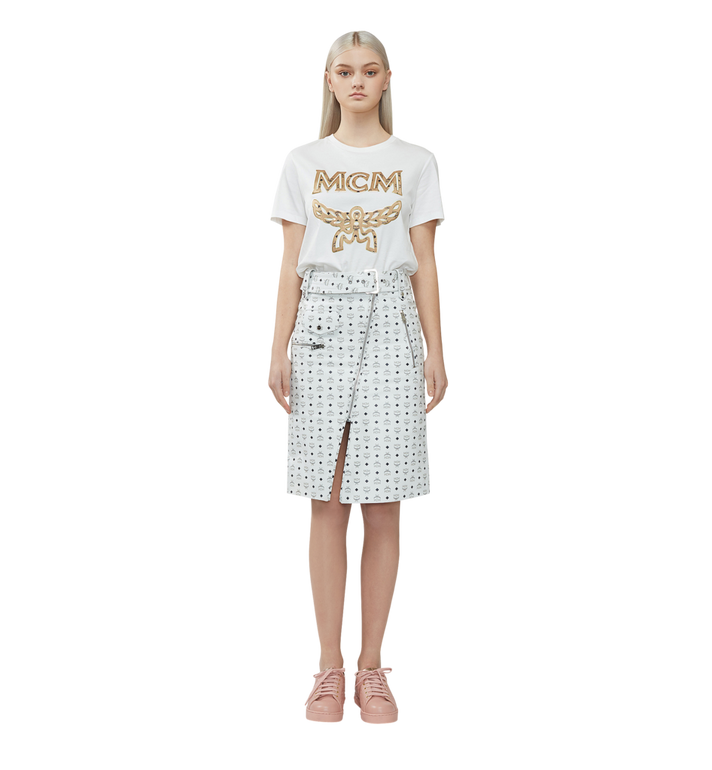 MCM Women's Logo T-Shirt White MFT8SMM11WI00L Alternate View 4