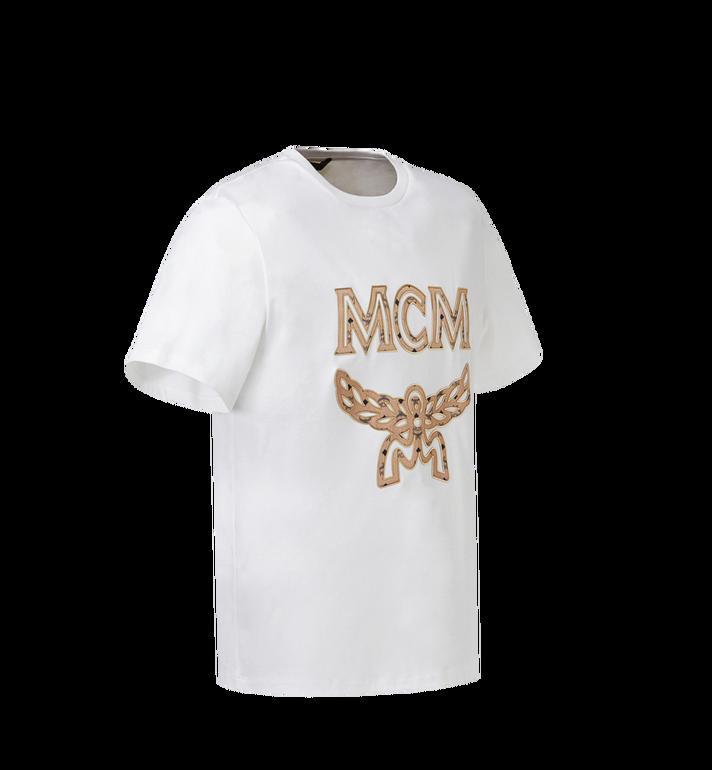 MCM Women's Logo T-Shirt White MFT8SMM11WI00S Alternate View 2