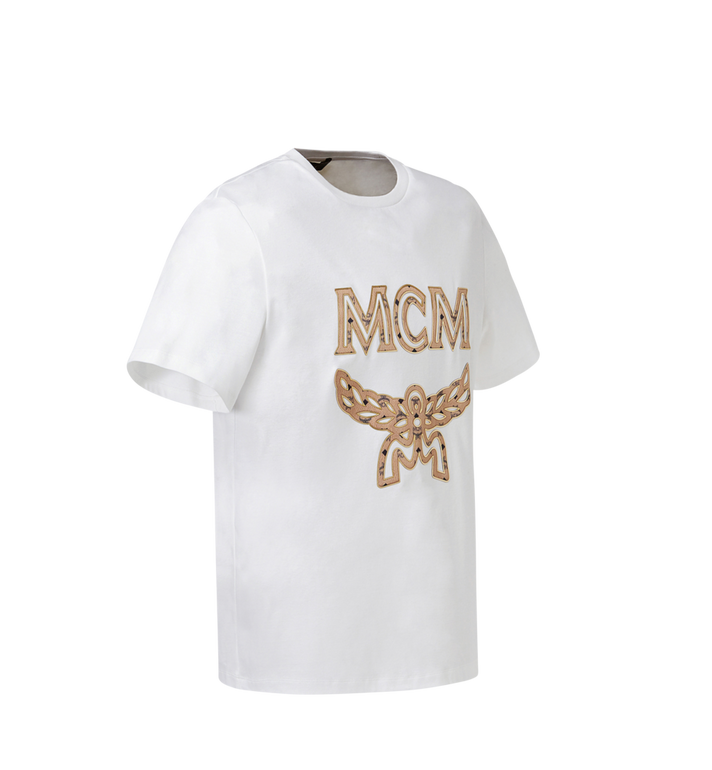 MCM Women's Logo T-Shirt White MFT8SMM11WI00S Alternate View 2