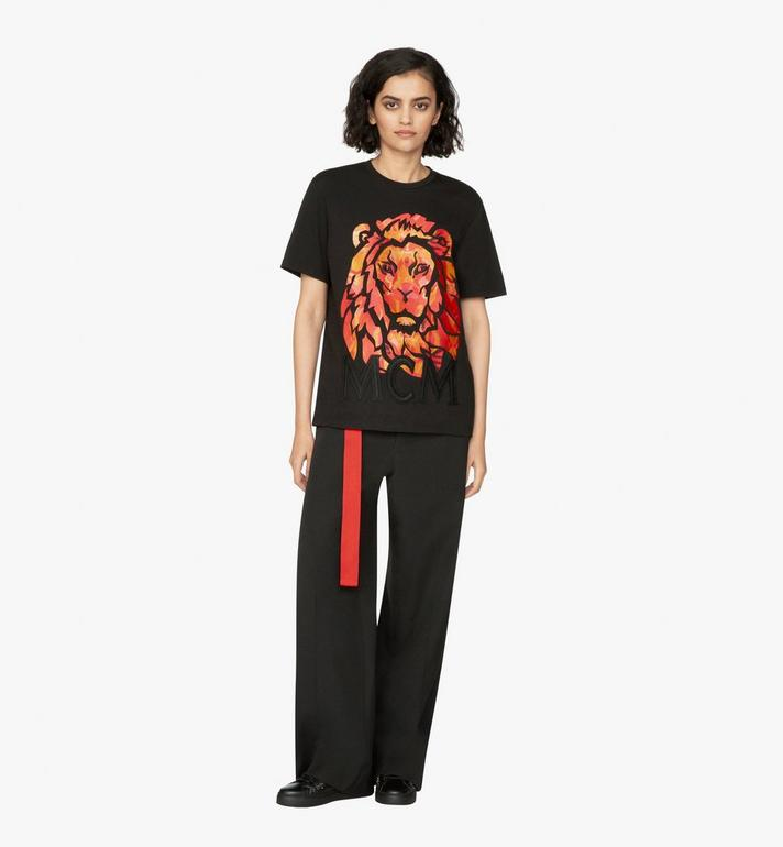 MCM Women's Munich Lion T-Shirt Black MFT9AVU21BK00M Alternate View 3