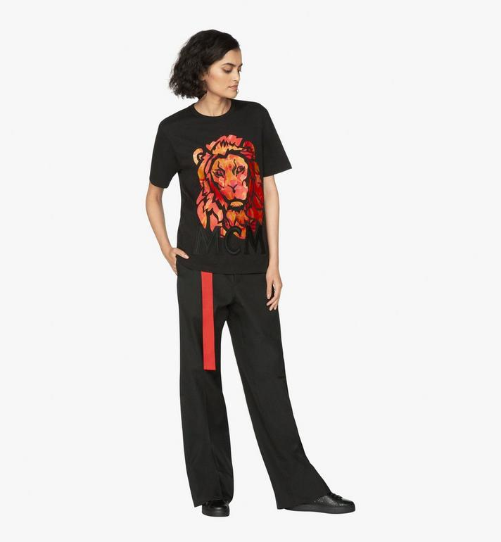 MCM Women's Munich Lion T-Shirt Black MFT9AVU21BK00M Alternate View 4