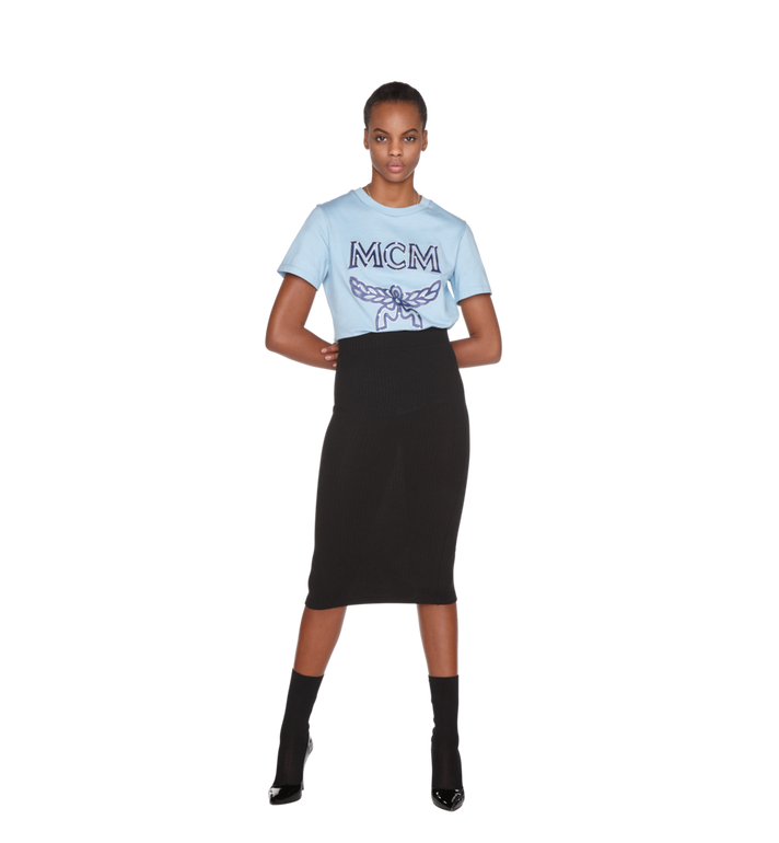 MCM Damen Logo T-Shirt Alternate View 4