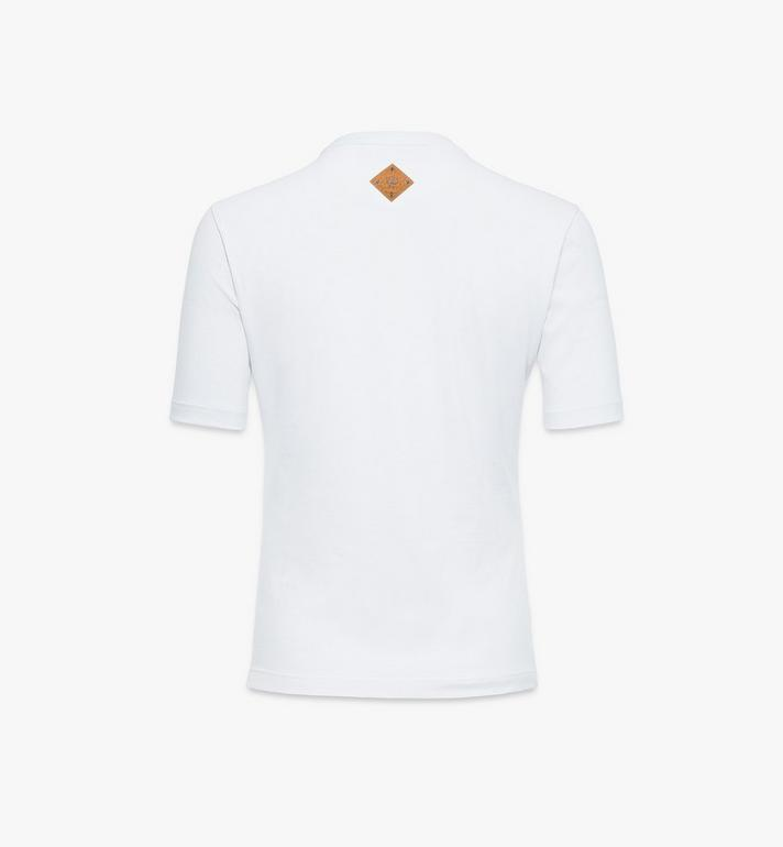 MCM Women's Valentine T-Shirt White MFTAACF01W200S Alternate View 2