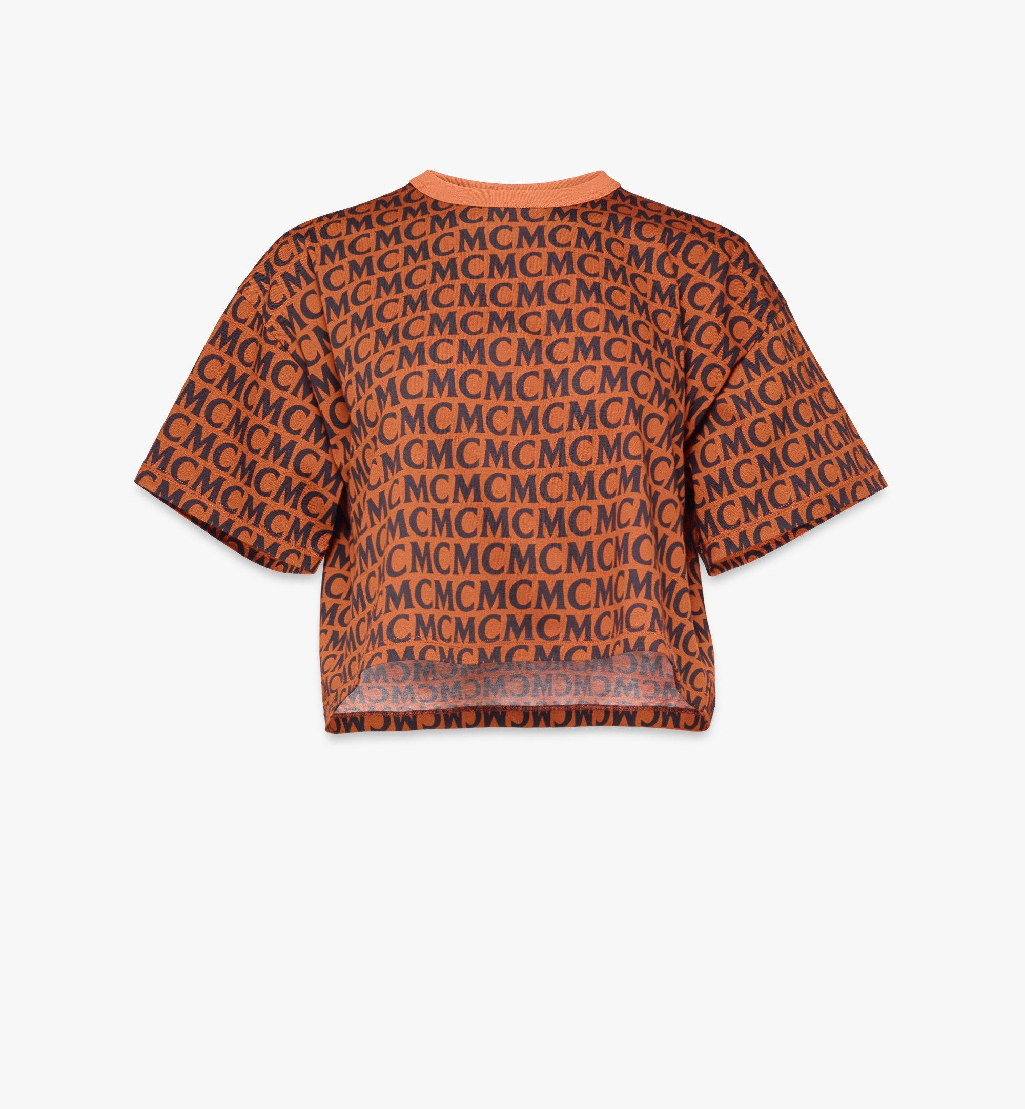 MCM T-shirt monogrammé pour femme Black MFTAAMD01C400L Alternate View 1