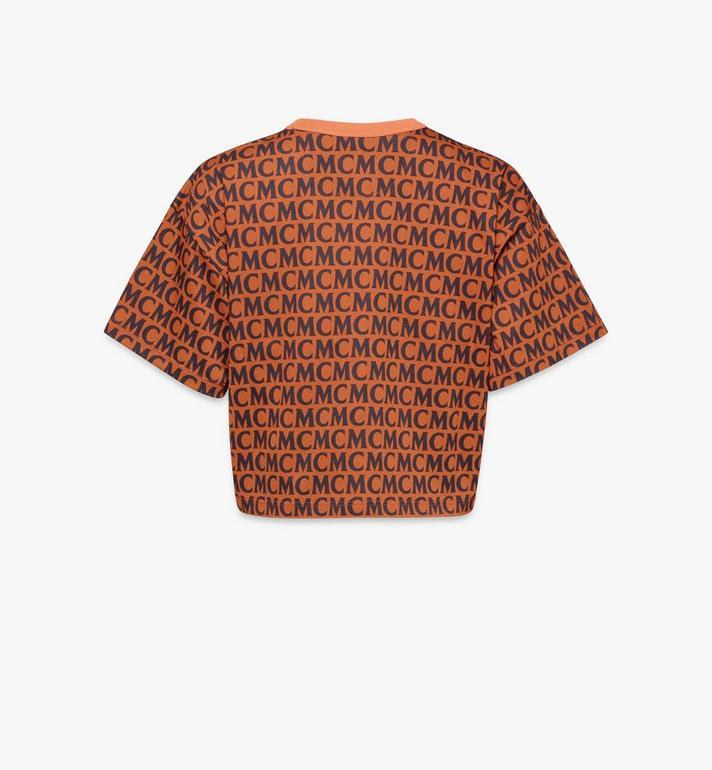 MCM T-Shirt mit Monogramm für Damen Black MFTAAMD01C400L Alternate View 2